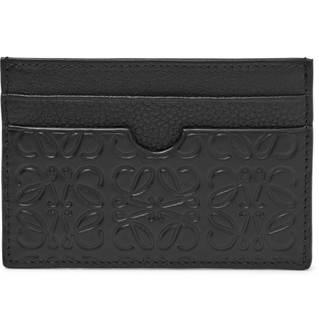 Puzzle Logo Embossed Leather Cardholder by Loewe