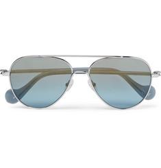 78d1708b95 Moncler - Aviator-Style Palladium-Plated Sunglasses