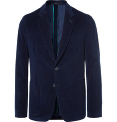 Paul Smith Navy Soho Slim-Fit Cotton-Corduroy Blazer