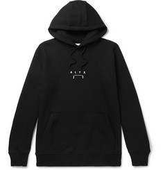 1017 ALYX 9SM Logo-Print Fleece-Back Cotton-Blend Jersey Hoodie