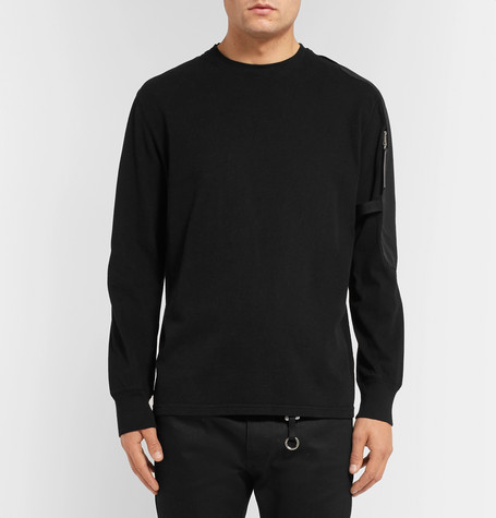 Sling Faille Panelled Cotton Jersey Sweatshirt by 1017 Alyx 9 Sm