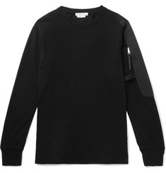 1017 ALYX 9SM Sling Faille-Panelled Cotton-Jersey Sweatshirt