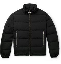 1017 ALYX 9SM Leather-Trimmed Quilted Faille Down Jacket