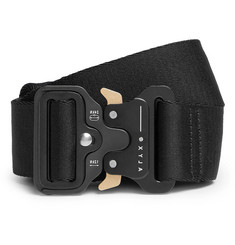 ALYX - 4cm Black Rollercoaster Leather-Trimmed Canvas Belt