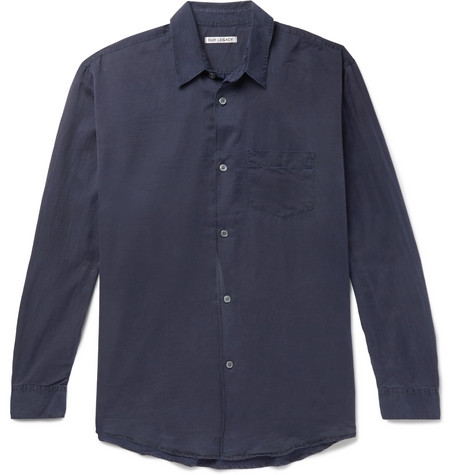 Initial Washed Cotton And Silk Blend Shirt by Our Legacy