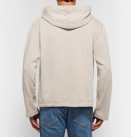 Fleece Back Cotton Jersey Hoodie by Our Legacy