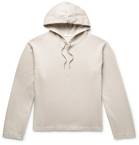 OUR LEGACY FLEECE-BACK COTTON-JERSEY HOODIE