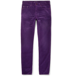 Saint Laurent Skinny-Fit Cotton-Corduroy Trousers