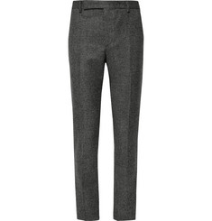 Saint Laurent - Slim-Fit Basketweave Wool Suit Trousers