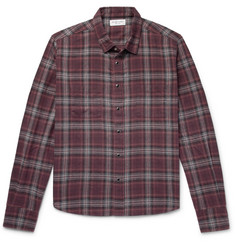 Saint Laurent Checked Cotton-Flannel Shirt
