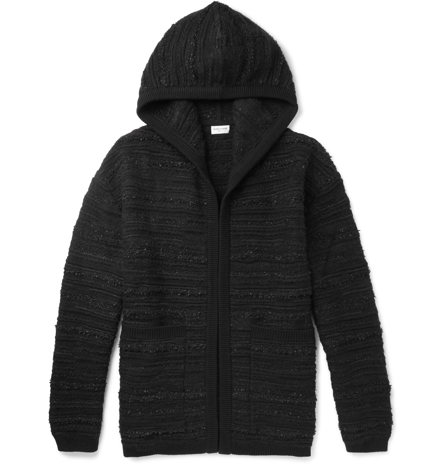 Black Saint Laurent Hoodie Wool blend Bouclé pWn6tI