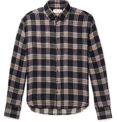 Saint Laurent - Slim-Fit Distressed Checked Wool-Blend Shirt