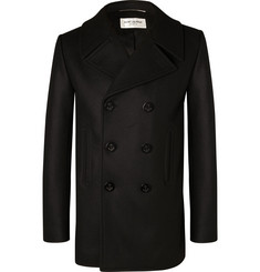 Saint Laurent - Double-Breasted Virgin Wool Peacoat