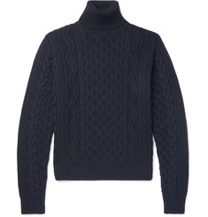 Saint Laurent - Cable-Knit Wool Rollneck Sweater