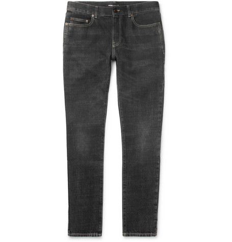 Skinny-fit 16cm Hem Washed-denim Jeans