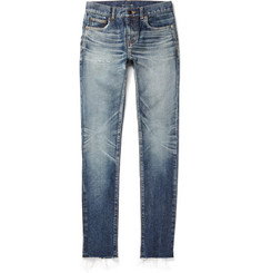 Saint Laurent - Skinny-Fit 15cm Hem Denim Jeans