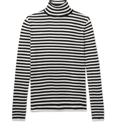Saint Laurent - Striped Cotton Rollneck Sweater
