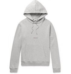 Saint Laurent Logo-Print Cotton-Blend Jersey Hoodie