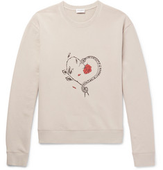 Saint Laurent Printed Loopback Cotton-Jersey Sweatshirt