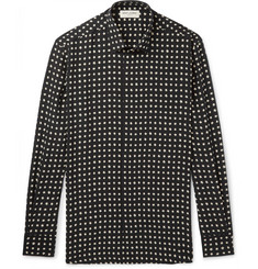 Saint Laurent Slim-Fit Printed Silk Shirt