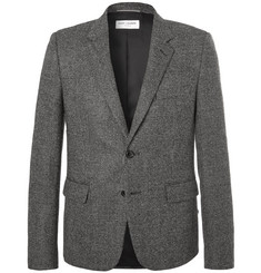 Saint Laurent - Slim-Fit Basketweave Wool Suit Jacket