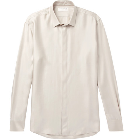 Modal, Silk And Cashmere Blend Shirt by Saint Laurent