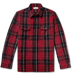 Saint Laurent Checked Wool-Blend Overshirt
