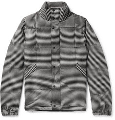 PS Paul Smith Quilted Puppytooth Brushed Stretch-Cotton Down Jacket