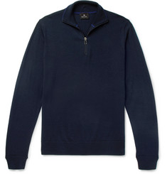 PS by Paul Smith Merino Wool Half-Zip Sweater