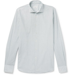Incotex - Slim-Fit Grid-Checked Cotton Shirt