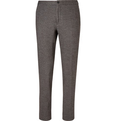 Incotex Slim-Fit Dogtooth Cotton and Virgin Wool-Blend Trousers