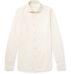 Incotex Ween Slim-Fit Cutaway-Collar Cotton-Corduroy Shirt