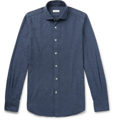 Incotex Ween Slim-Fit Cutaway-Collar Cotton-Twill Shirt