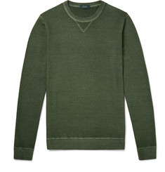 Incotex Garment-Dyed Virgin Wool Sweater