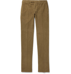 Incotex - Slim-Fit Garment-Dyed Stretch-Cotton Corduroy Trousers