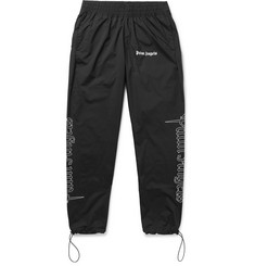 Palm Angels Slim-Fit Logo-Print Shell Trousers