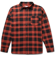 Palm Angels - Printed Buffalo-Checked Cotton-Blend Overshirt