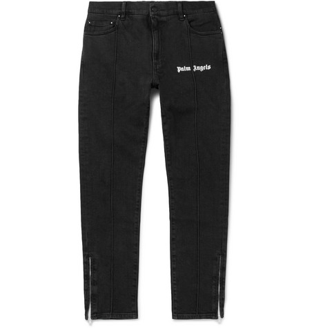 SKINNY-FIT LOGO-PRINT STRETCH-DENIM JEANS from MR PORTER