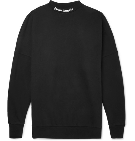 LOGO-PRINT FLEECE-BACK COTTON-JERSEY SWEATSHIRT from MR PORTER