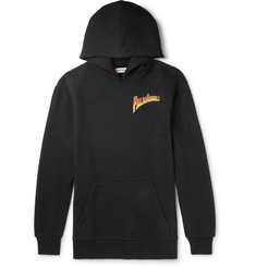 Palm Angels Embellished Logo-Print Fleece-Back Cotton-Jersey Hoodie