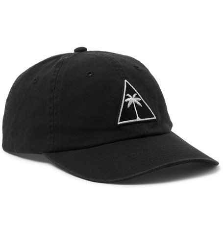 Appliquéd Cotton-twill Baseball Cap - Black