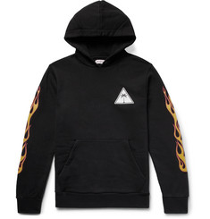 Palm Angels Oversized Logo-Print Fleece-Back Cotton-Jersey Hoodie