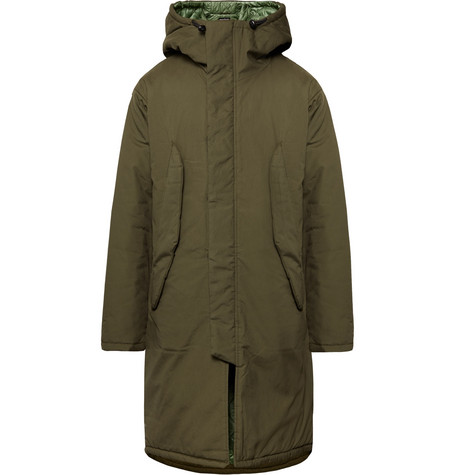 MONITALY Harry'S Vancloth Cotton Hooded Parka in Army Green