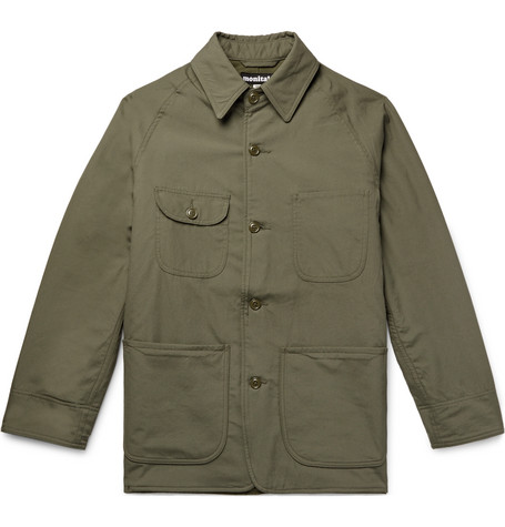 MONITALY Cotton-Canvas Jacket in Army Green