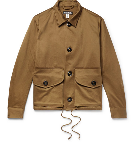 MONITALY Military Service Type A Cotton Jacket in Tan