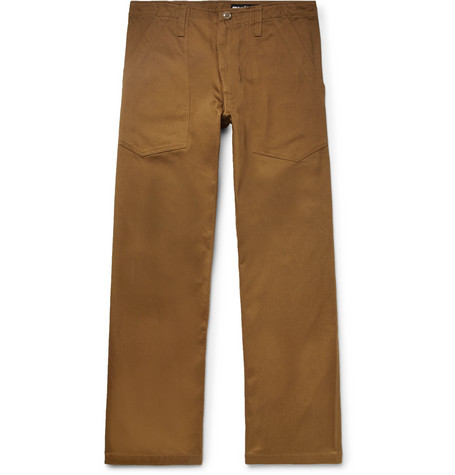 Cropped Cotton Twill Trousers by Monitaly