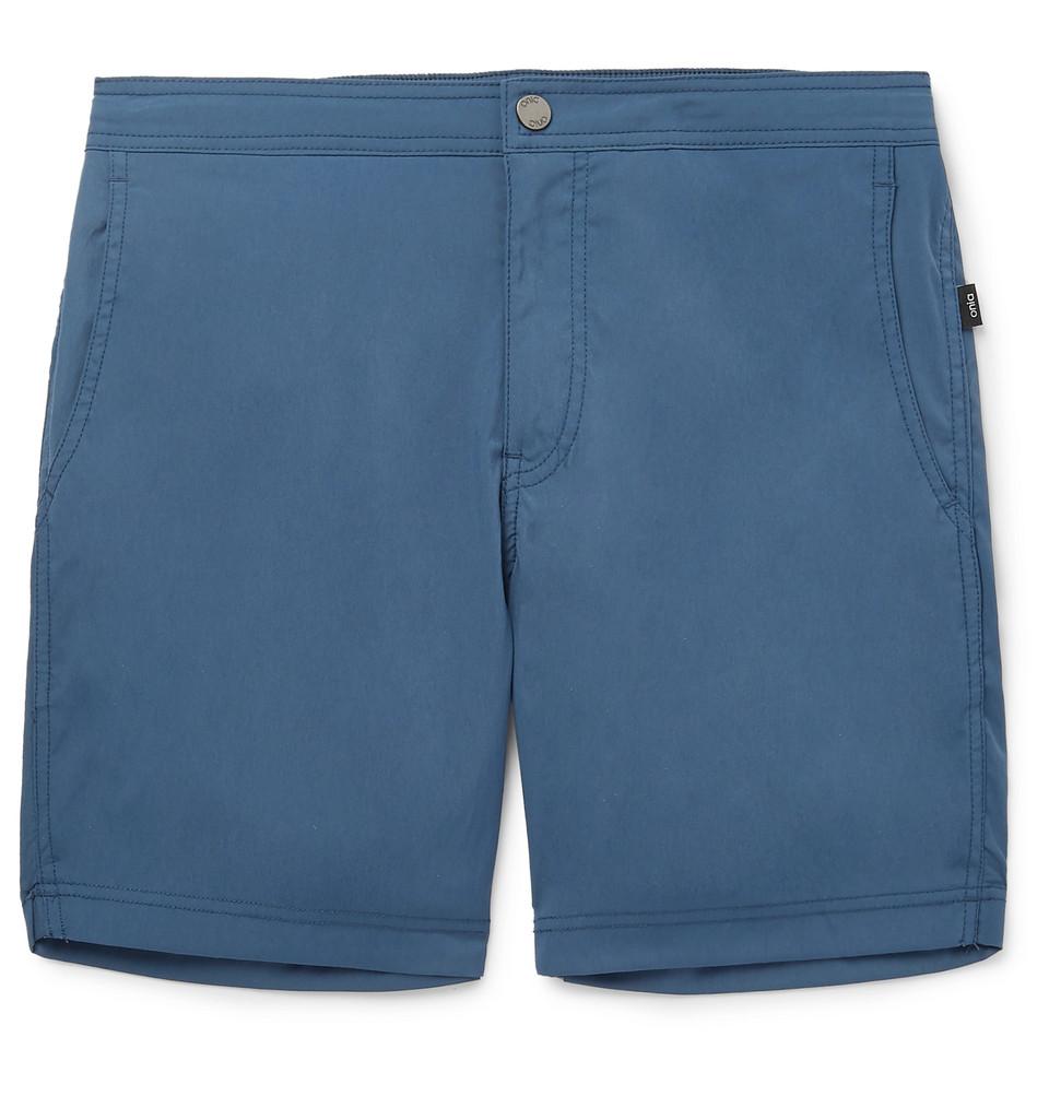 Calder Mid-length Swim Shorts - Blue