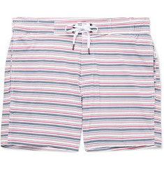 Onia Alek Mid-Length Striped Swim Shorts