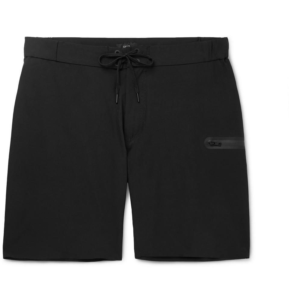 Ethan Long-length Swim Shorts - Black