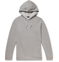Onia Aaron Mélange Fleece-Back Cotton-Blend Jersey Hoodie